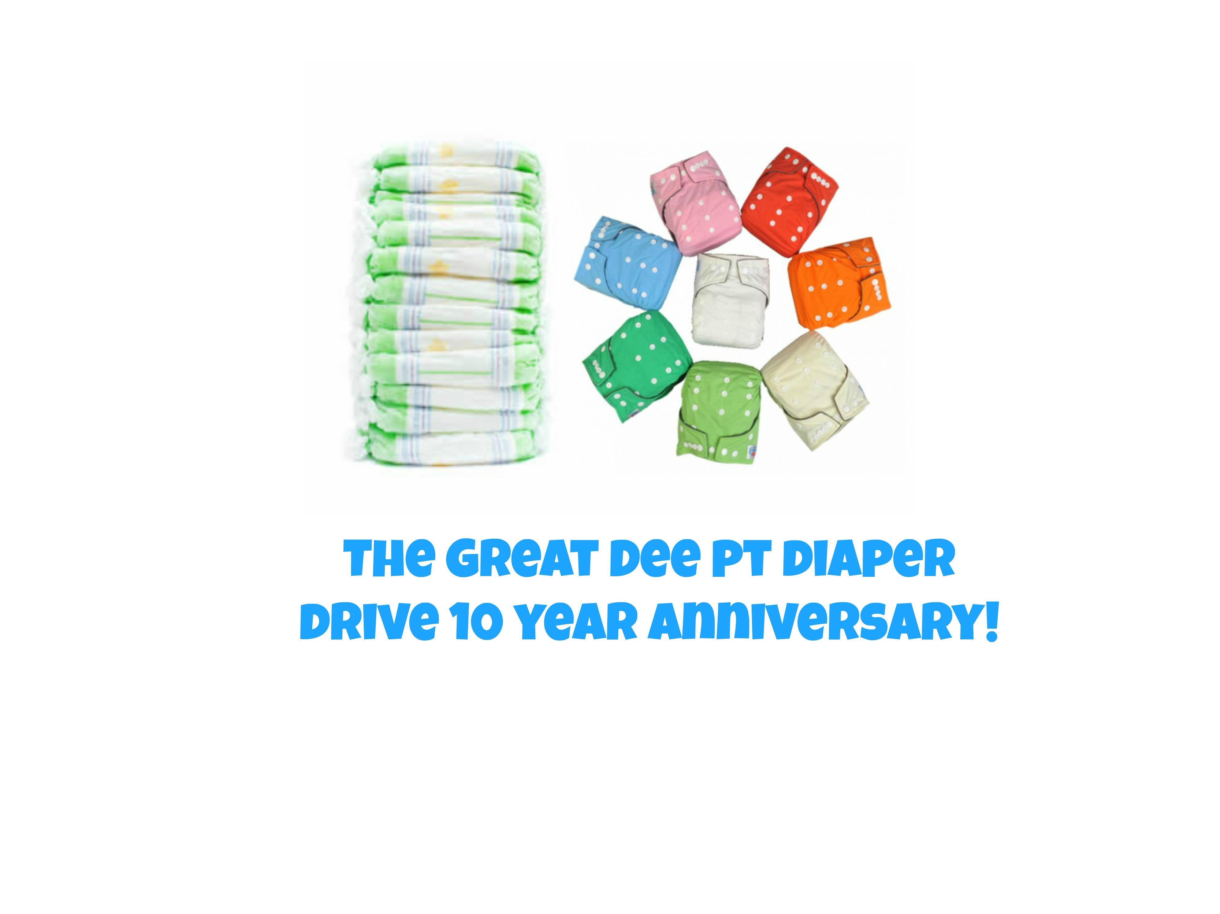 Ten Years of the Great Dee PT Diaper Drive!