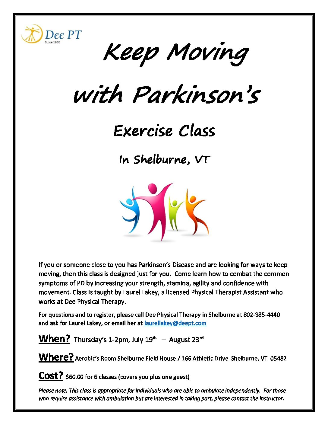 Keep Moving  with Parkinson's