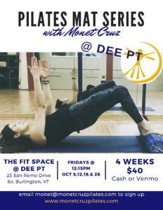 Pilates Mat Series @ The Fit Space @ Dee PT | South Burlington | Vermont | United States